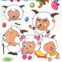 radiant lamb stickers (JDC547)